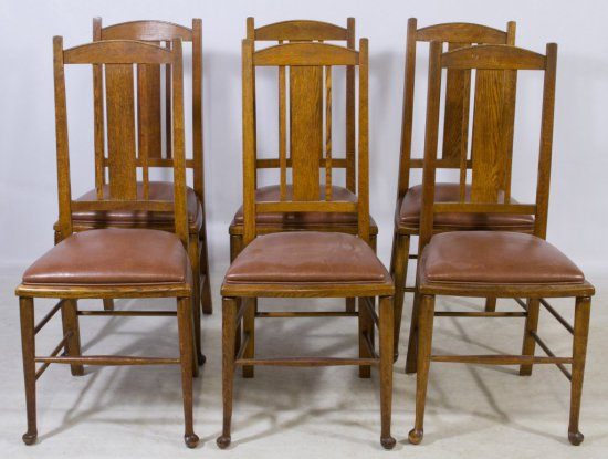 Craftsman Style Oak Dining Chairs