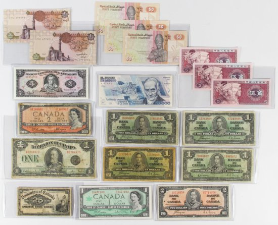 World: Currency Assortment VG/UNC