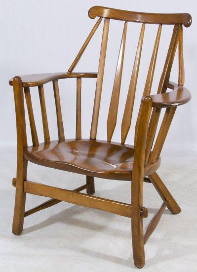 American Rock Maple High Back Arm Chair by Cushman