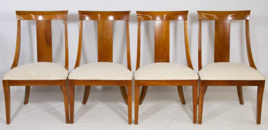 American Mahogany Dining Chairs by Ethan Allan