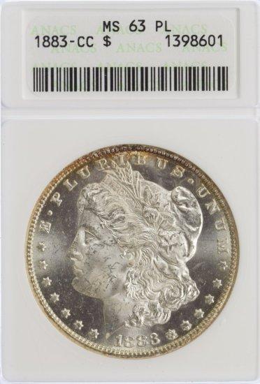 1883-CC $1 MS-63 PL ANACS