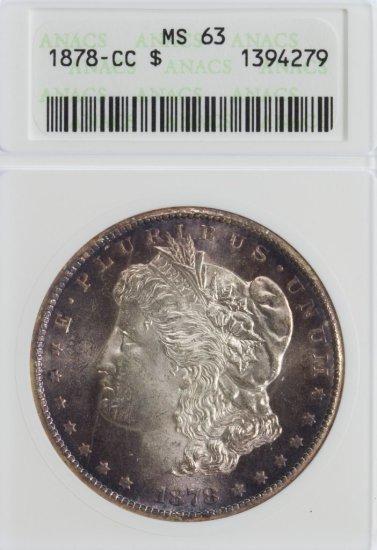 1878-CC $1 MS-63 ANACS