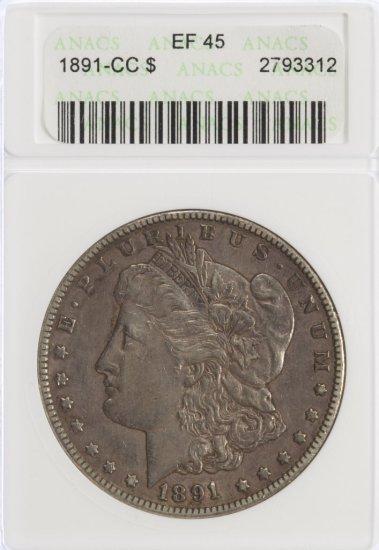 1891-CC $1 XF-45 ANACS