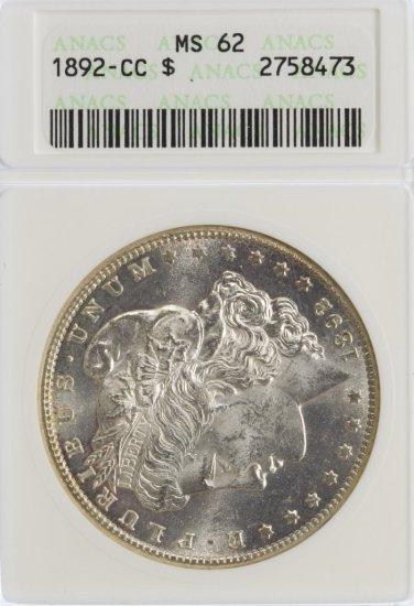 1892-CC $1 MS-62 ANACS