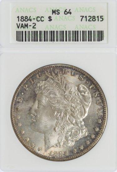 1884-CC $1 Vam-2 MS-64 ANACS