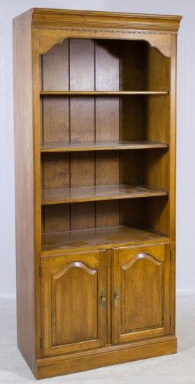 Fruitwood Book Shelf by Ethan Allen