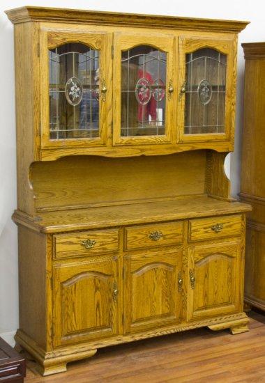 American Oak China Cabinet by Kushwood