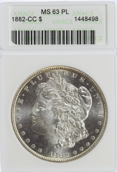 1882-CC $1 MS-63 PL ANACS