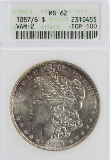 1887/6 $1 Vam-2 MS-62 ANACS