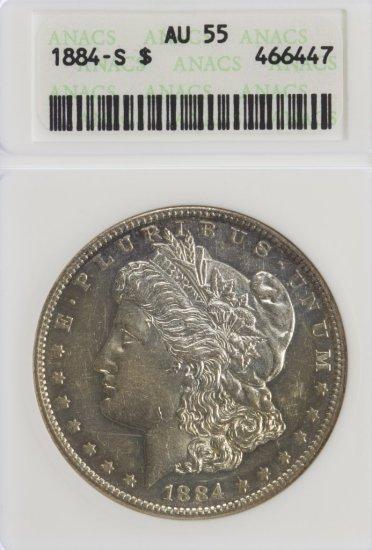 1884-S $1 AU-55 ANACS