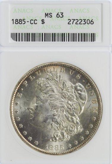 1885-CC $1 MS-63 ANACS