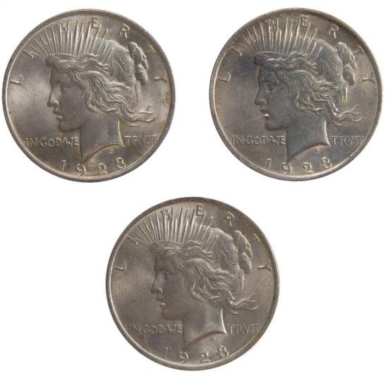 1923 Peace $1 VF+ Details