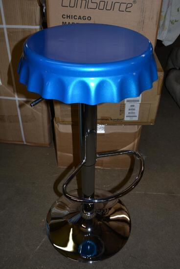 NEW IN BOX Bottle Cap Style Swivel Bar Stools Lot of 2