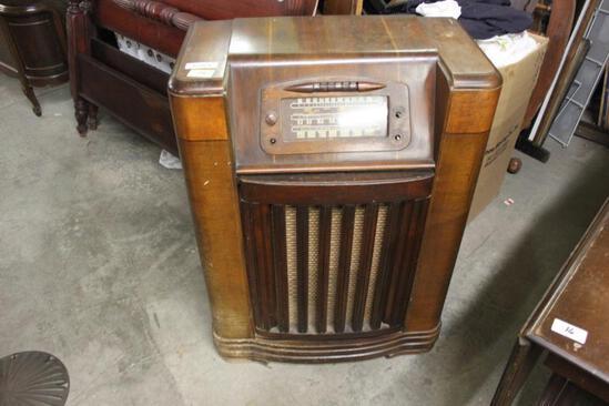 Radio in Mahogany Case