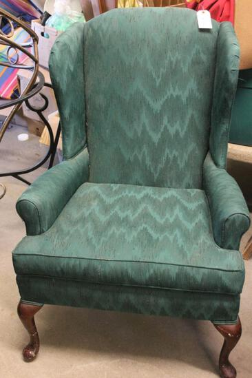 Queen Anne Upholstered Wing back Chair