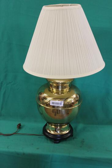 LARGE BRASS LAMPS