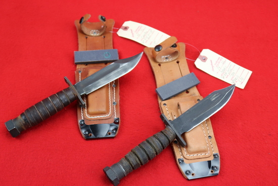 2) Jet Pilot's Survival Knives Camillus and Ontario