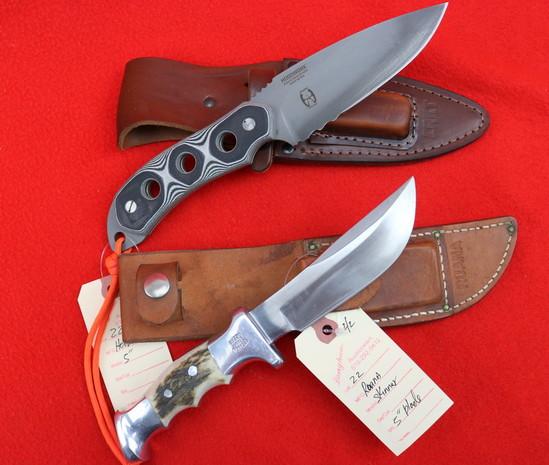 (2) Fixed Blade Knives CRKT Hoodwork And Ruana Skinner