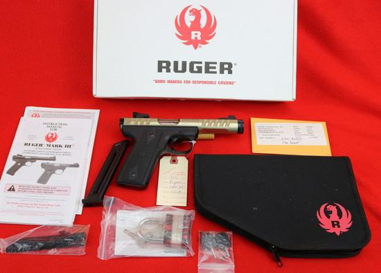 "Ruger 22/45 Gold Anodize ""Lite"" Pistol .22 LR  (P45MK3ALRP)"