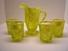 Mosser Glass Pitcher & 4 glasses