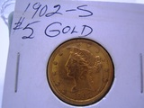 1902 S  $5.00 Gold Piece Coin