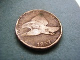 1857 Flying One Cent Piece