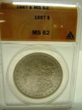 1887 MS62 Silver Dollar