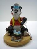Hamm's Bear Frying Fish Figurine