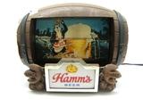 Hamm's Lighted Flipper Barrel Sign
