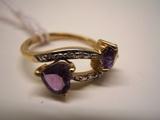 10 KT Gold Amythyst Ring
