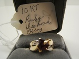 10 KT Ruby & Diamond Ring