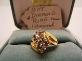 10 KT Woman's Diamond Ring