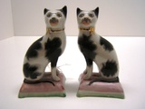 Staffordshire Ware Pair of Cats