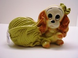 Hull Puppy Wrapped in Yarn Planter 88