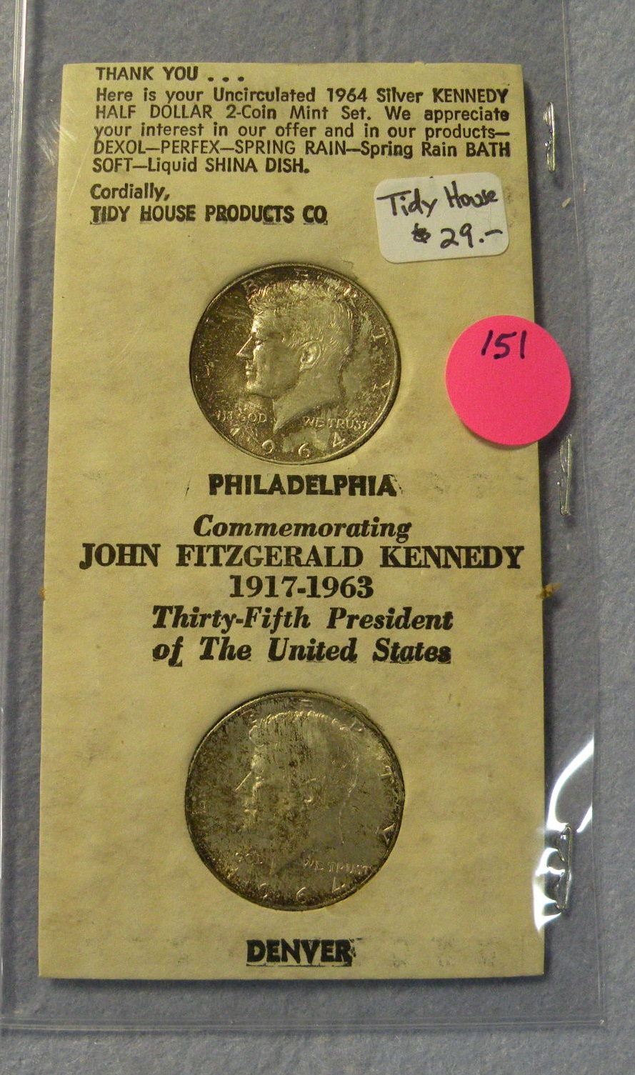 1964 P Uncirculated John Kennedy Half Dollar From Mint Sets Combined Shipping