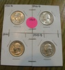 1941-D, 1943-D, 1944, 1945-D SILVER WASHINGTON QUARTERS - 4 TIMES MONEY