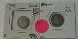 1840-O, 1842-O SEATED LIBERTY DIMES - 2 TIMES MONEY