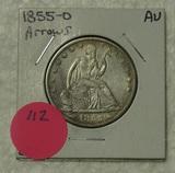 1855-O SEATED LIBERTY HALF DOLLAR W/ARROWS