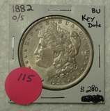 1882 O/S BU MORGAN SILVER DOLLAR