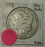 1893 MORGAN SILVER DOLLAR