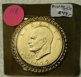 1972 GOLD PLATED EISENHOWER DOLLAR MONEY CLIP