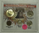 AMERICA'S FAVORITE COINS SET W/CASE