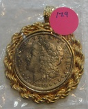 1880 MORGAN SILVER DOLLAR NECKLACE PENDANT
