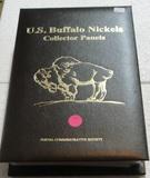 U.S. BUFFALO NICKEL COLLECTOR PANELS W/FOLDER - POSTAL COMMEMORATIVE SOCIETY