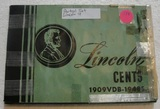 PARTIAL LINCOLN CENTS BOOK W/APPROX. 86 COINS - 1910-1948