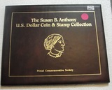SUSAN B. ANTHONY U.S. DOLLAR COIN & STAMP COLLECTION W/FOLDER