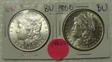 1890, 1900-O BU MORGAN SILVER DOLLARS - 2 TIMES MONEY