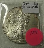 2011 BU SILVER EAGLE DOLLAR