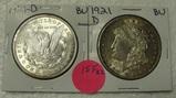 2 - 1921-D BU MORGAN SILVER DOLLARS - 2 TIMES MONEY