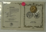 STATE OF NEBRASKA STATE SEAL MEDALLION WITH INFO CARD